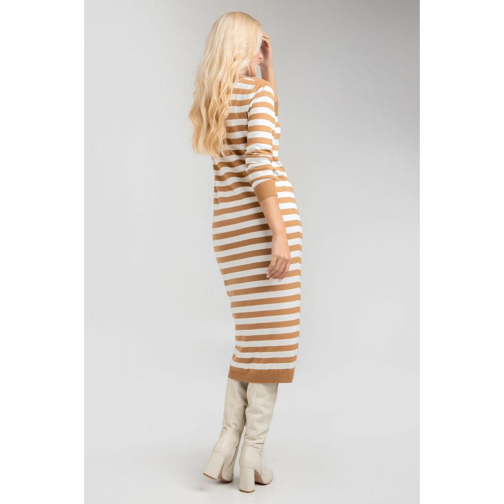 Демисезонное платье-миди в полоску Шелли фото 4