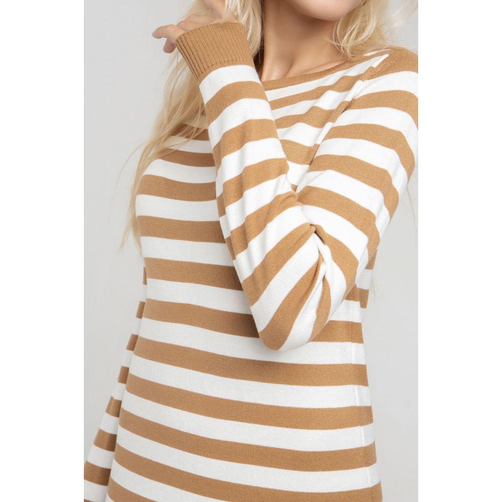 Демисезонное платье-миди в полоску Шелли фото 5