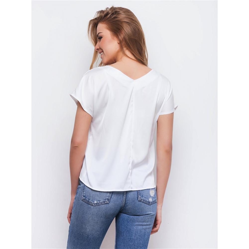 Белая блузка с нежным рисунком фото 2