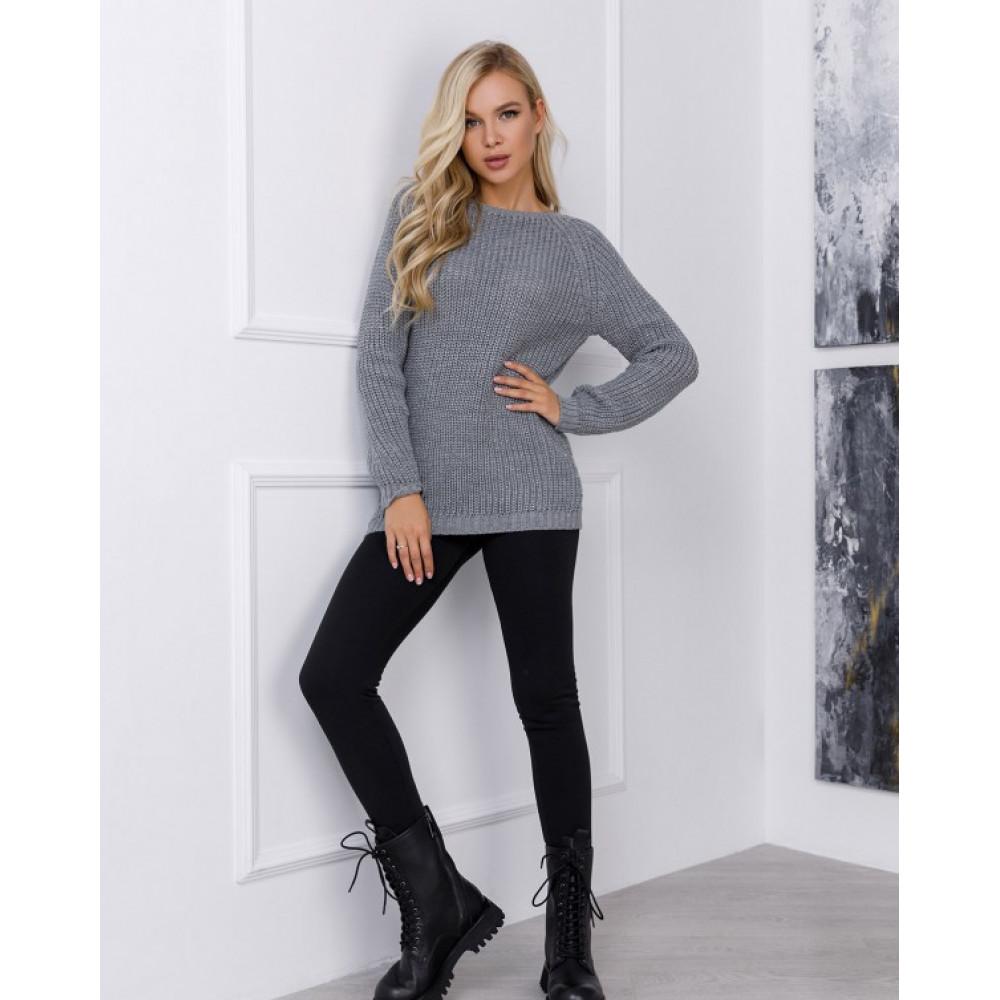 Вязаный свитер с рукавами реглан Сабрина фото 1