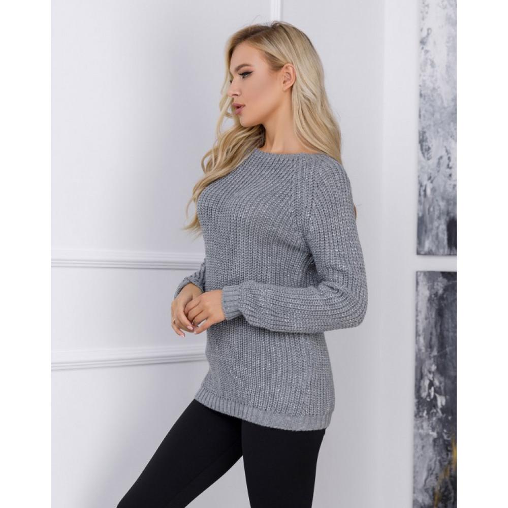 Вязаный свитер с рукавами реглан Сабрина фото 2