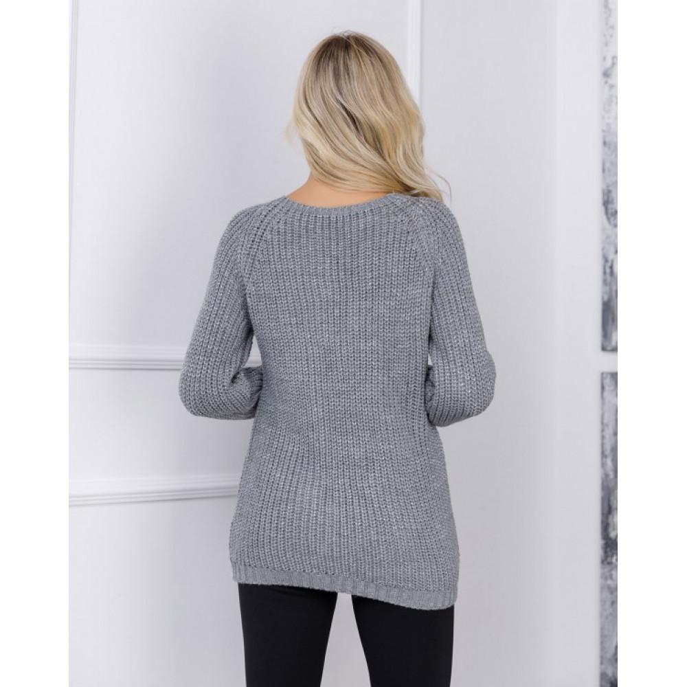 Вязаный свитер с рукавами реглан Сабрина фото 3
