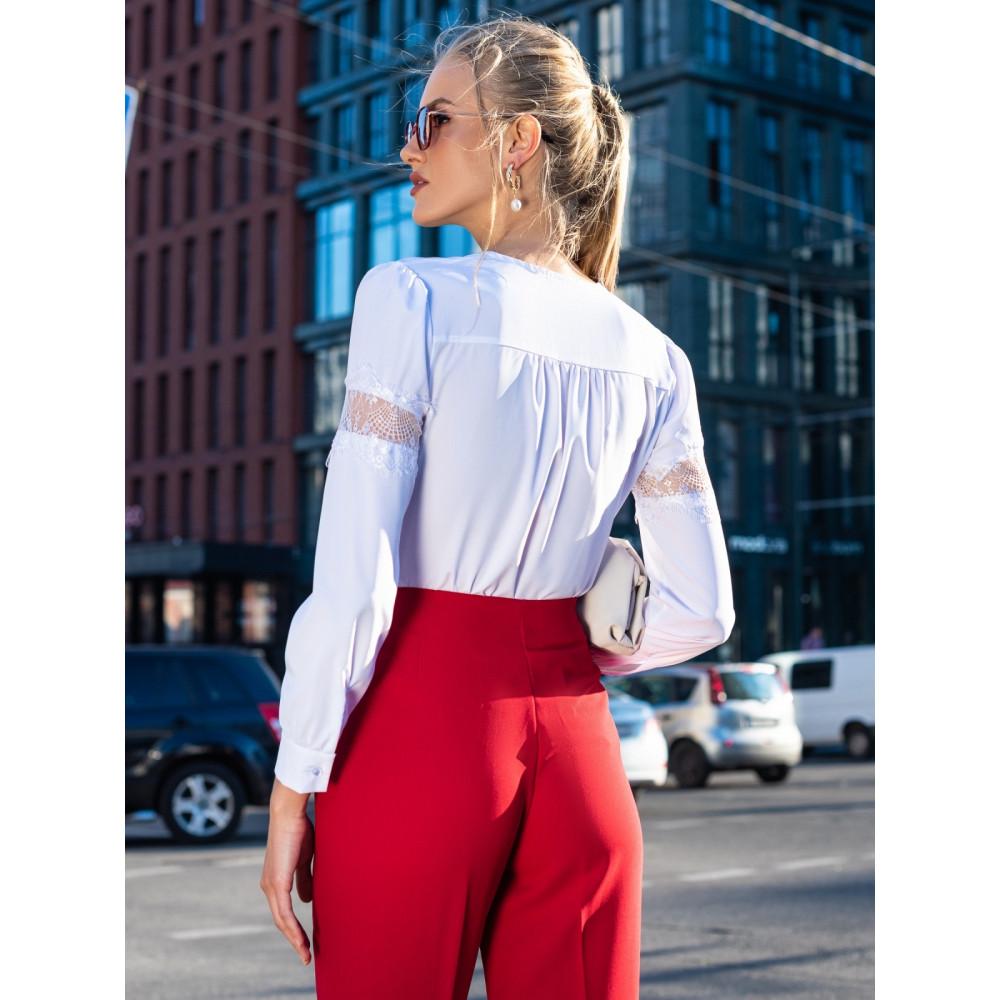 Блузка с вставками из кружева фото 3