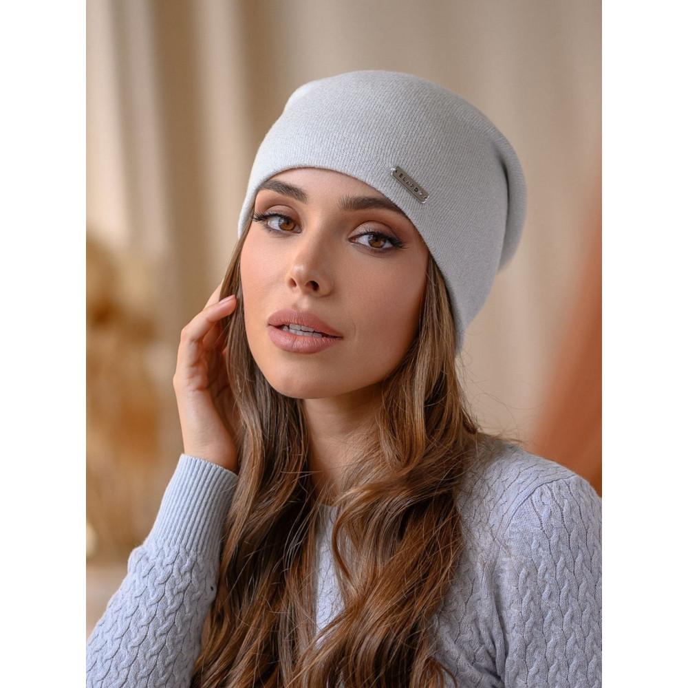 Белая женственная шапка Венеция с люрексом фото 1