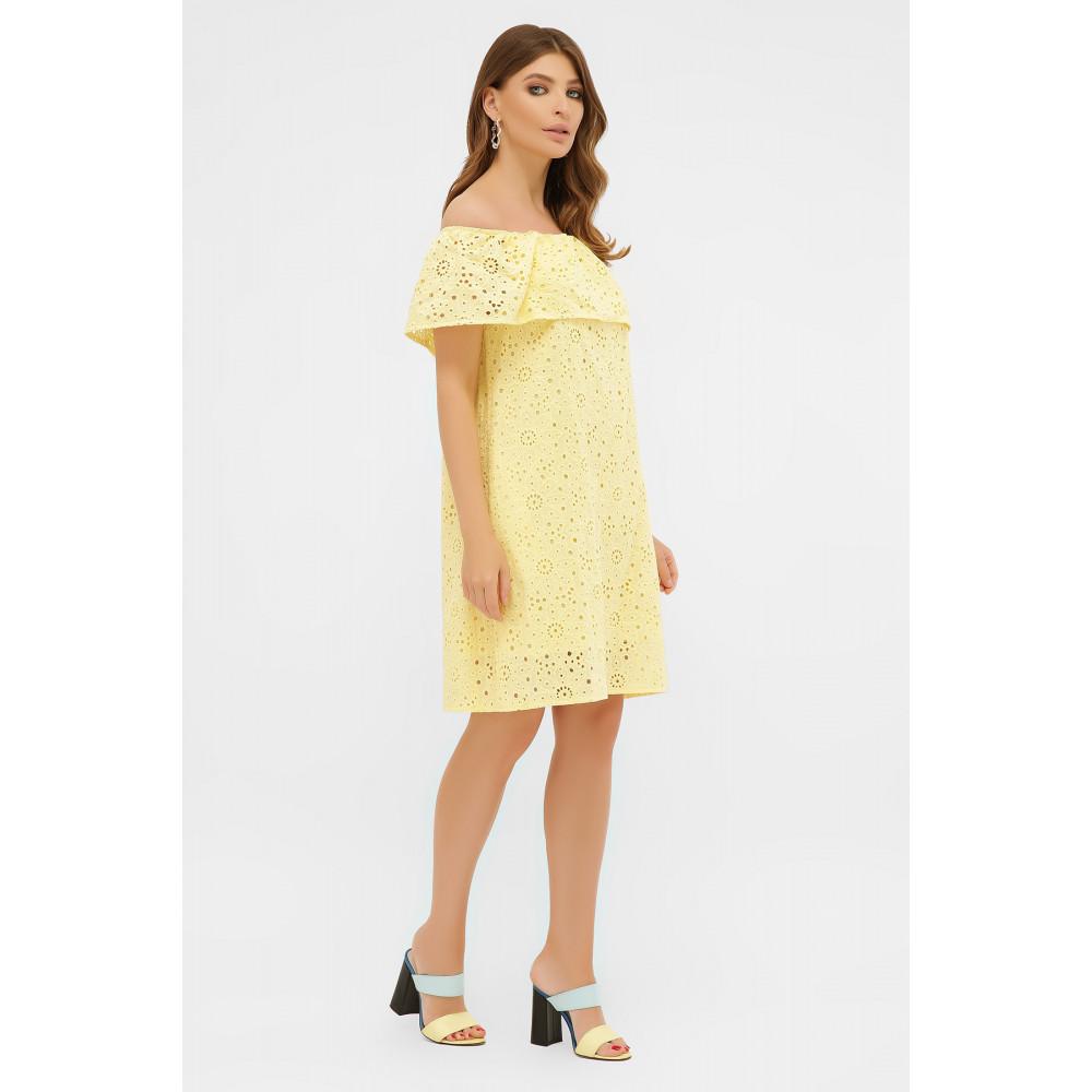 Желтый сарафан А-силуэта Гленн фото 3