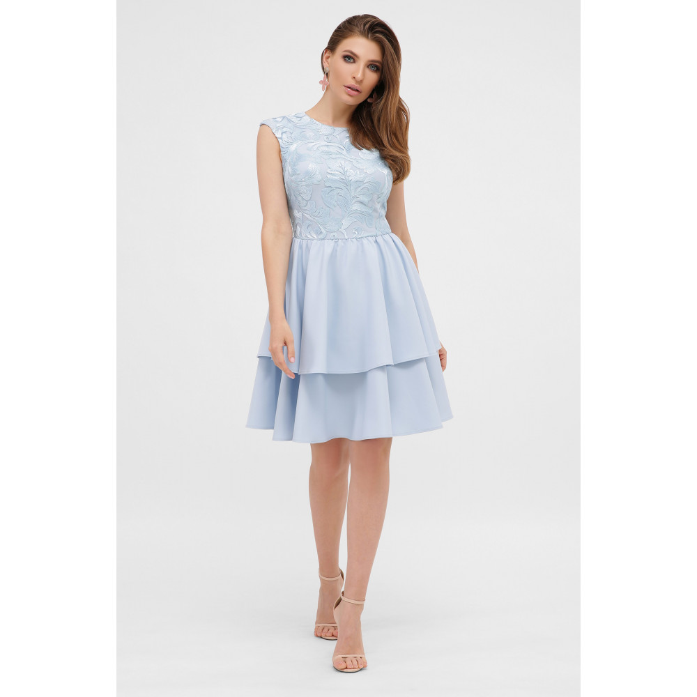 Голубое коктейльное платье Лилия фото 1