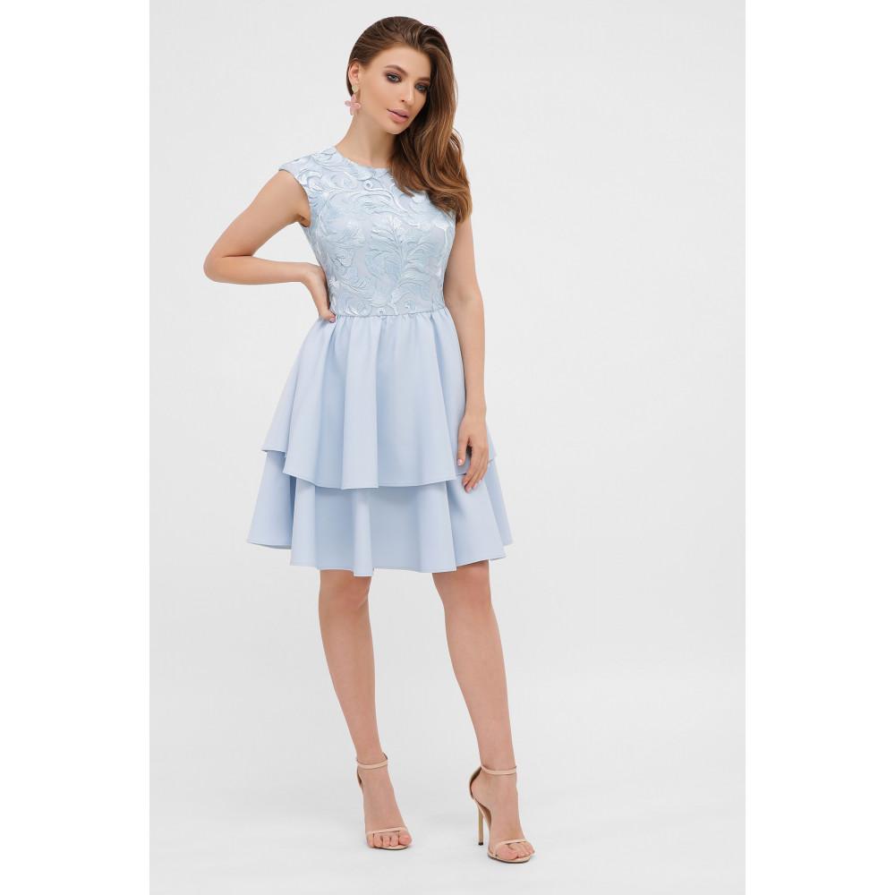 Голубое коктейльное платье Лилия фото 2