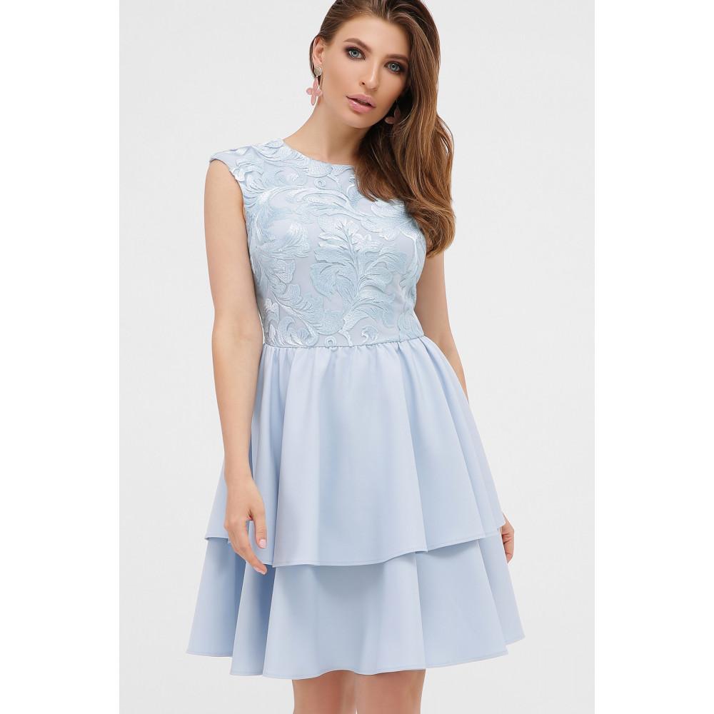 Голубое коктейльное платье Лилия фото 3