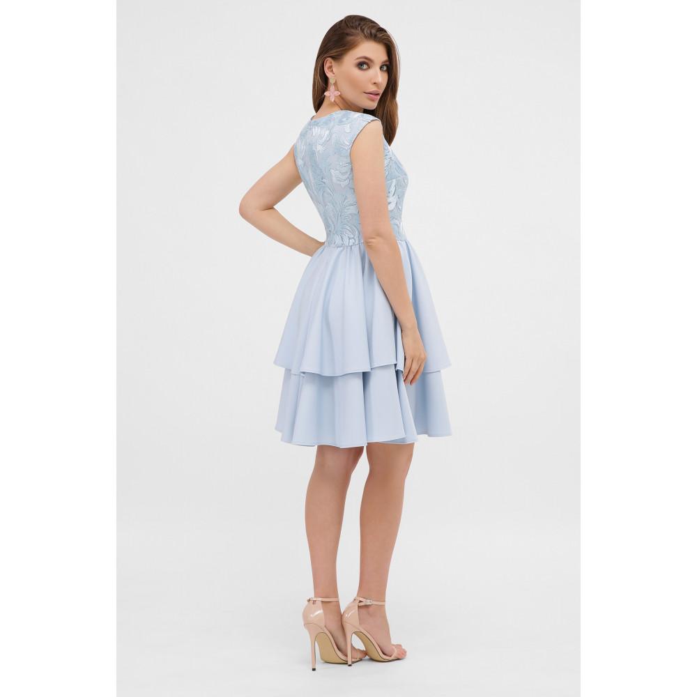 Голубое коктейльное платье Лилия фото 4