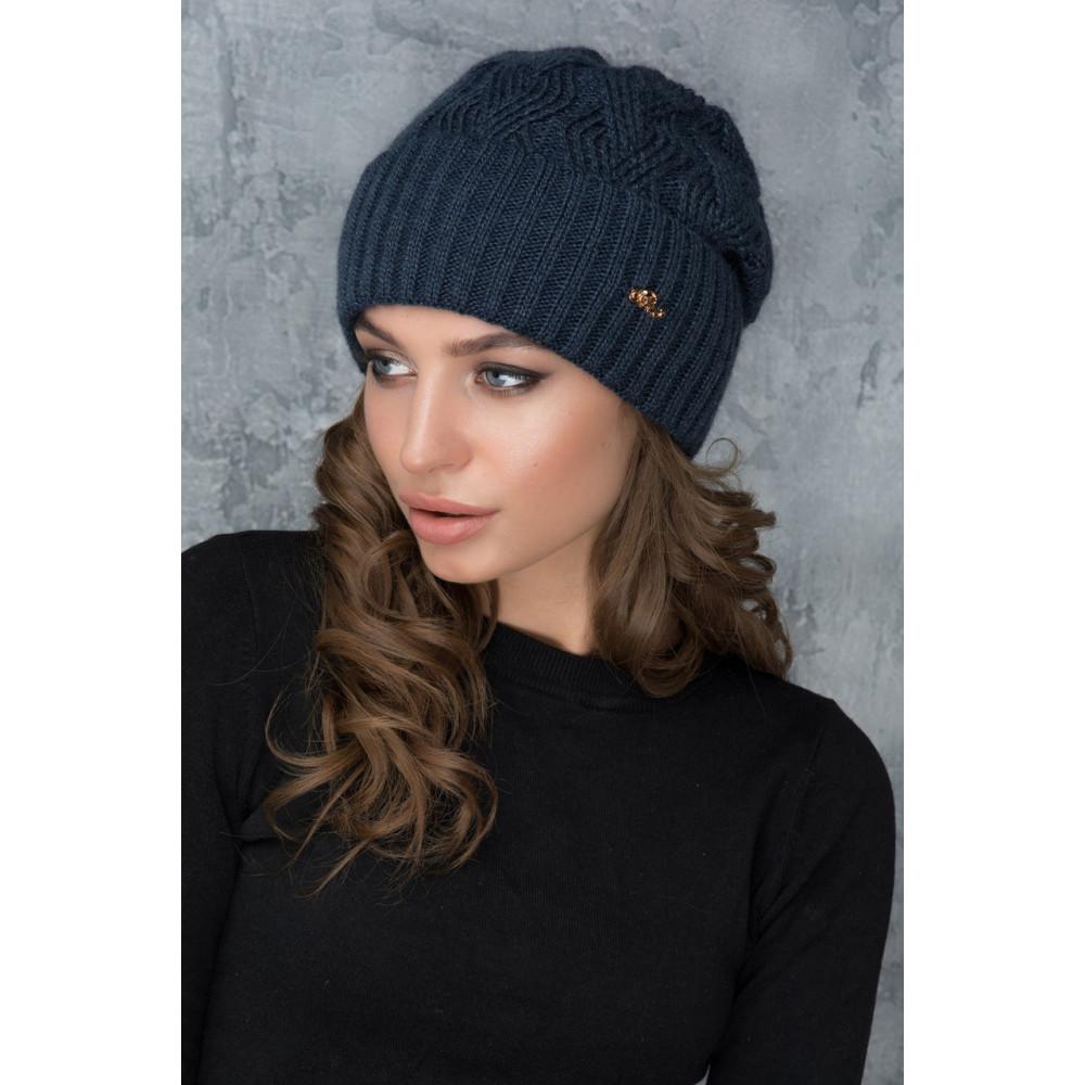 Вязаная удобная шапка Жанет фото 1