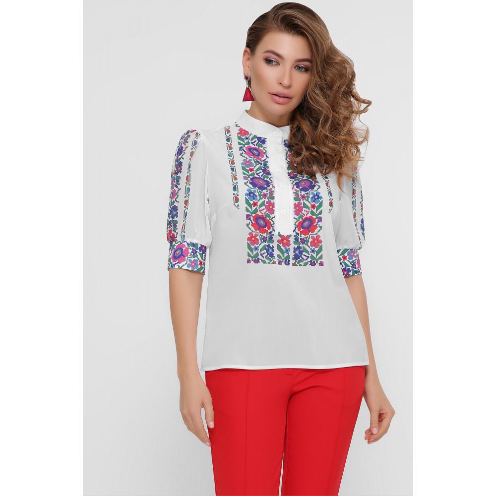 Колоритная блузка с принтом Лисанна фото 2