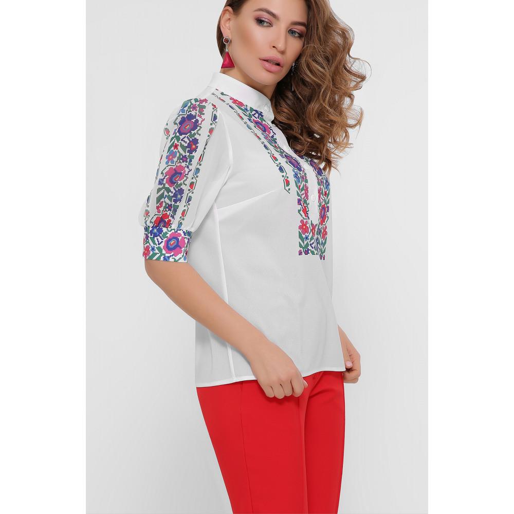 Колоритная блузка с принтом Лисанна фото 3