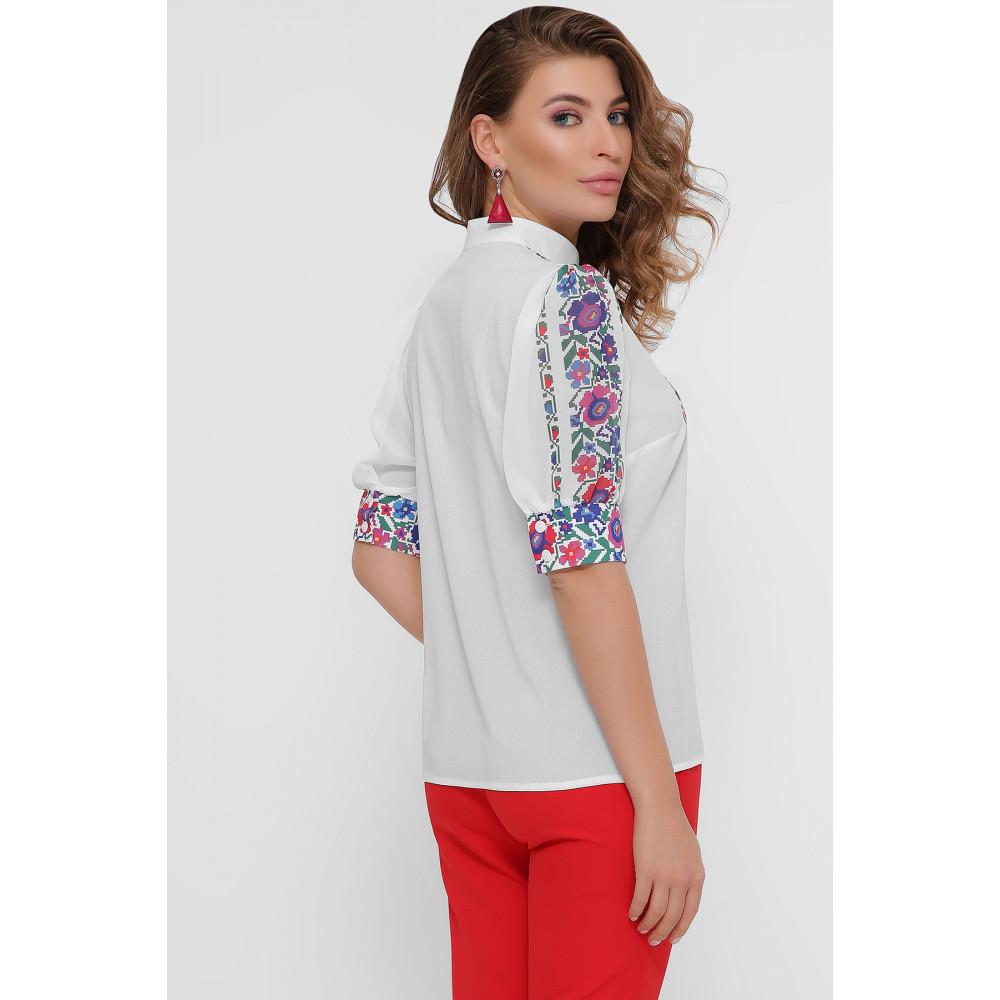 Колоритная блузка с принтом Лисанна фото 4