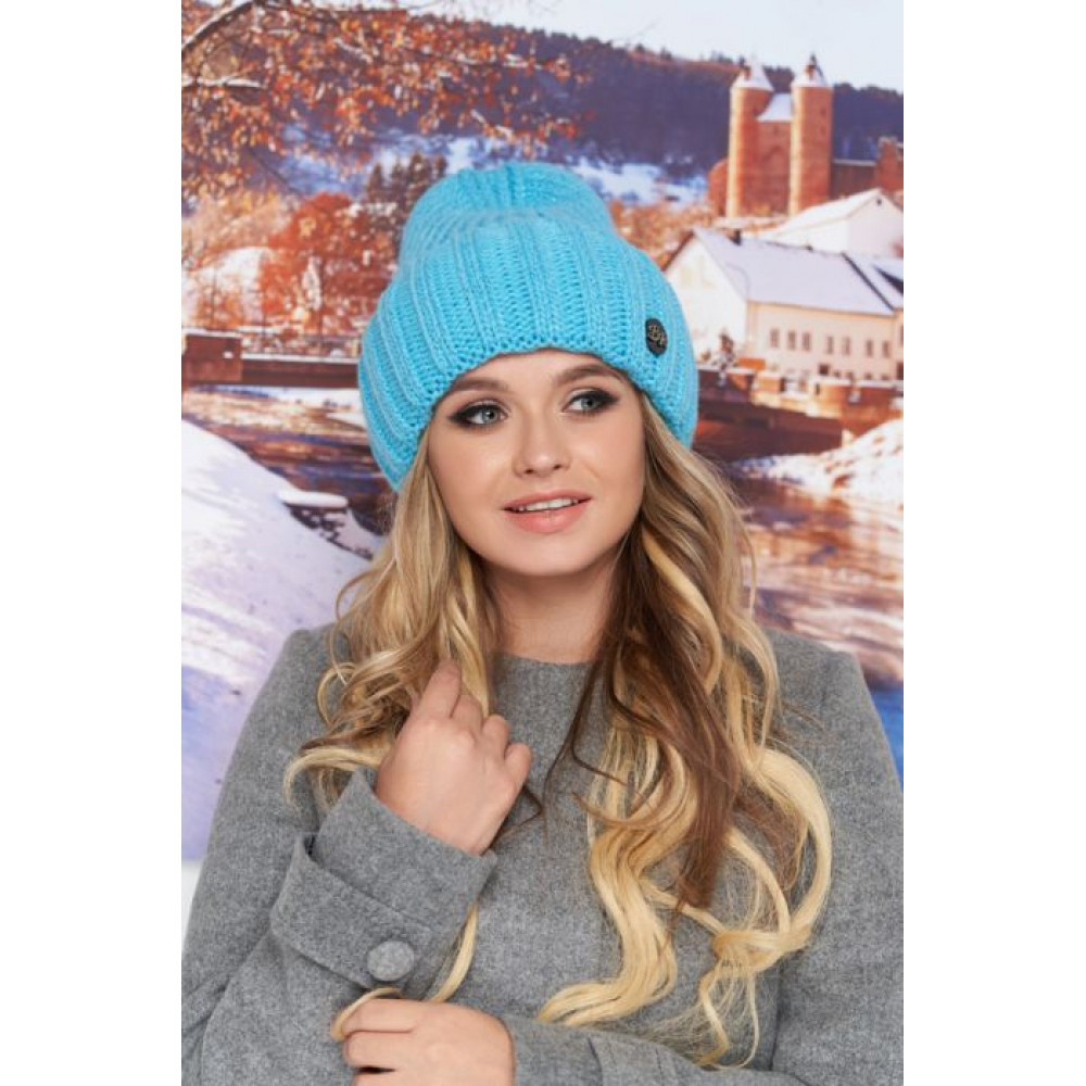 Бирюзовая шапка Наоми фото 1