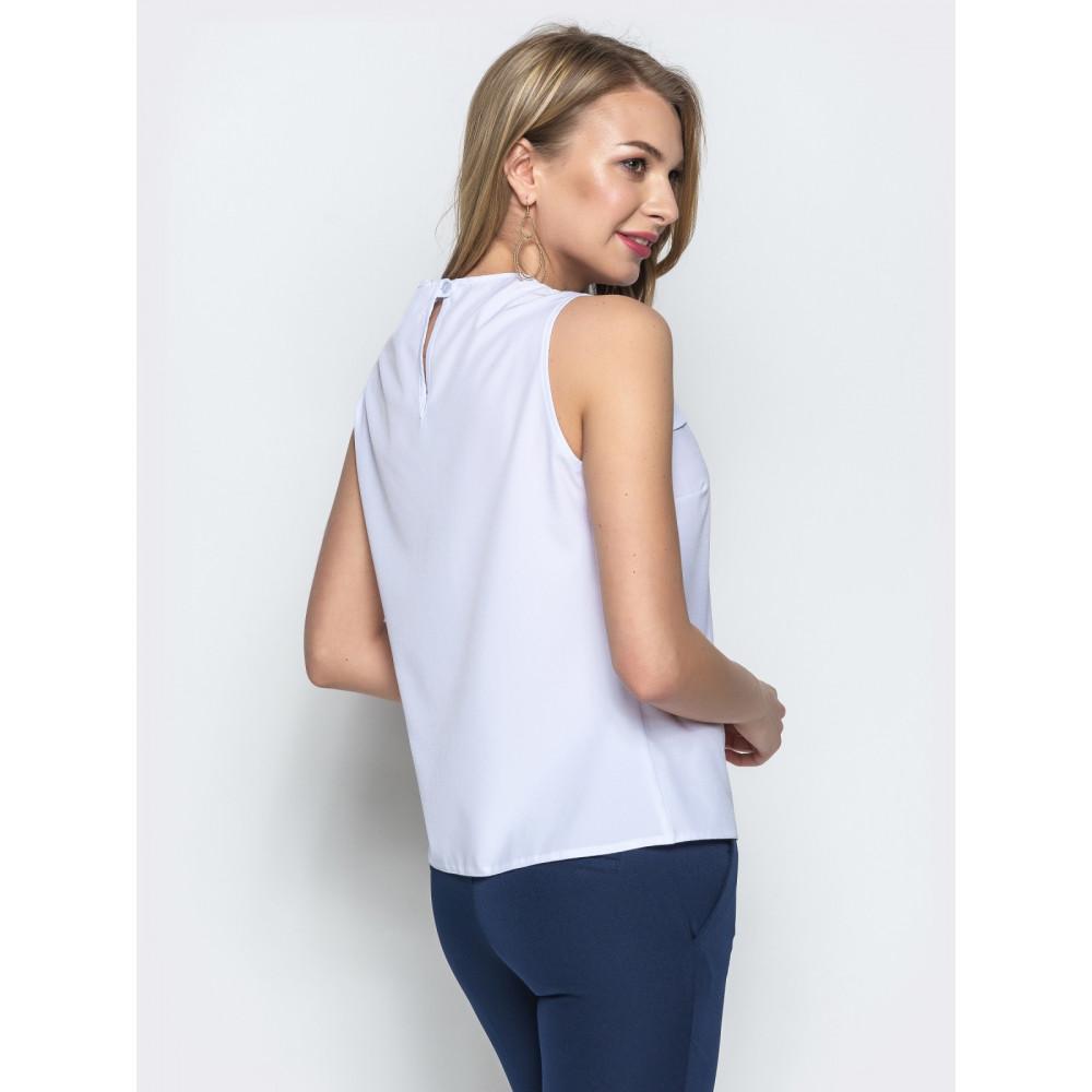 Белоснежная блузка с кружевом фото 3
