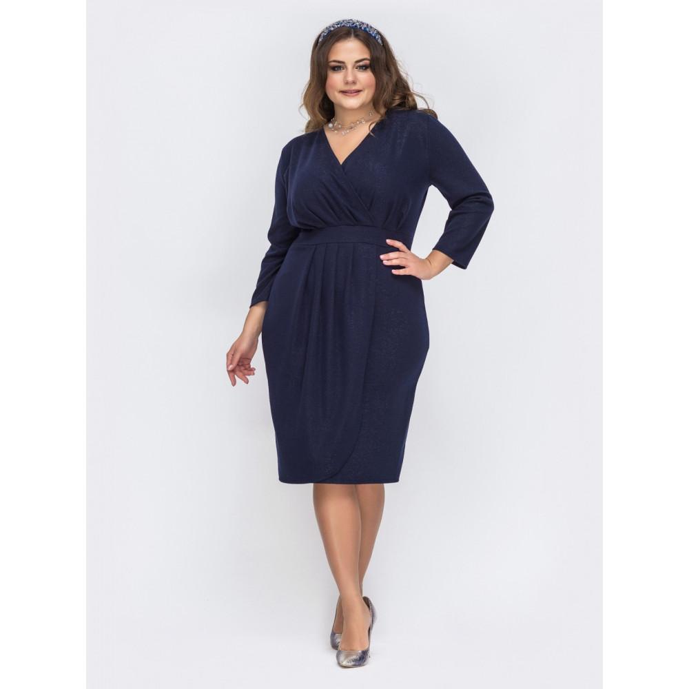 Вечерее синее платье с люресом Ода фото 1