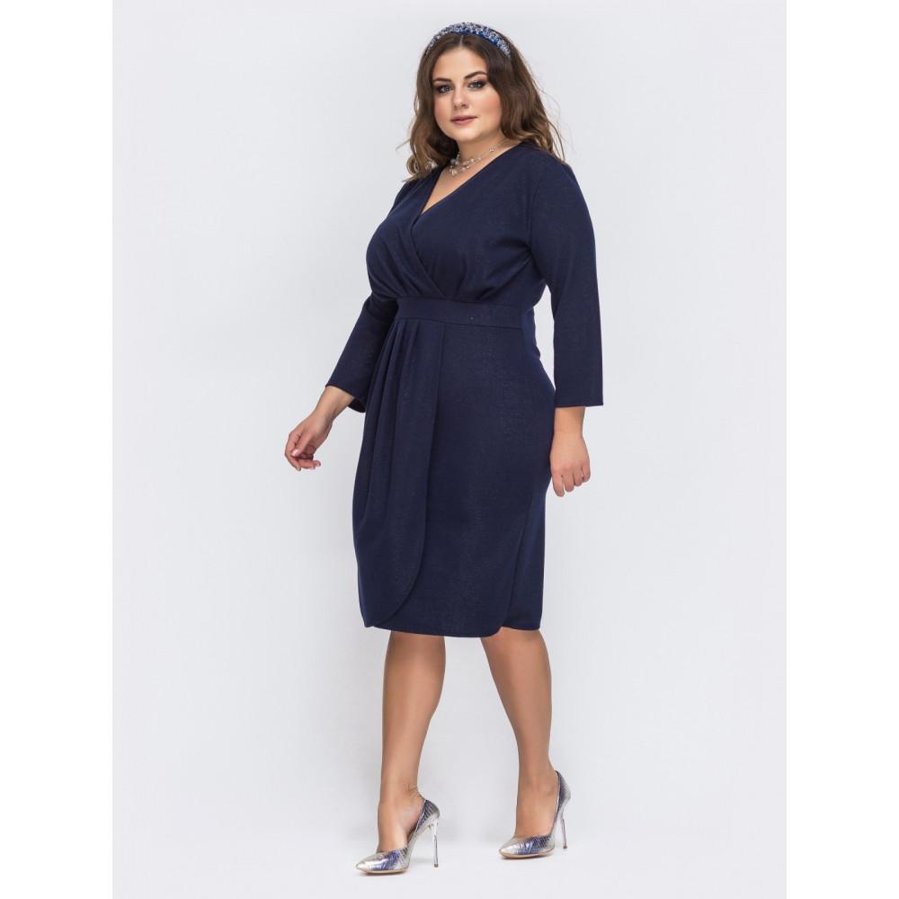 Вечерее синее платье с люресом Ода фото 2