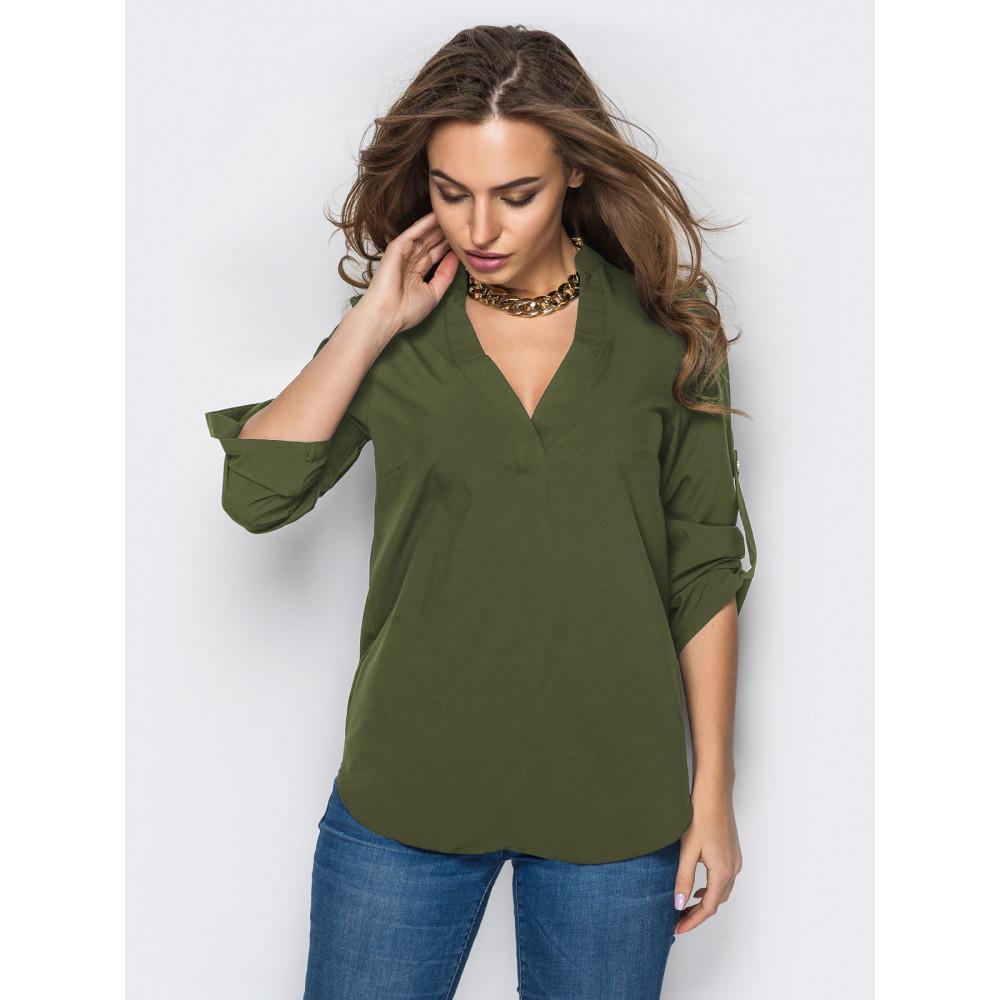 Блуза оливкового цвета фото 1