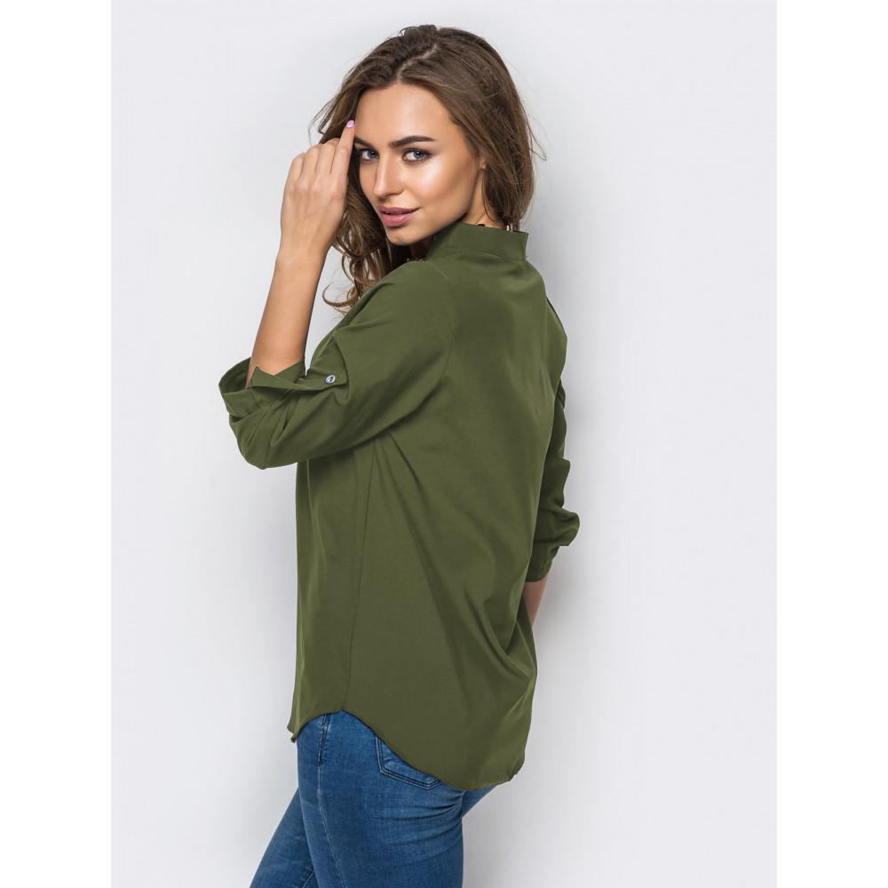 Блуза оливкового цвета фото 2