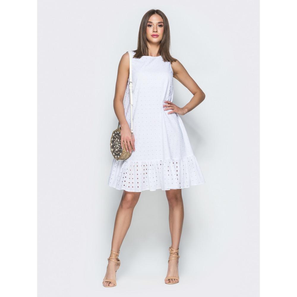 Изумительное белоснежное платье из прошвы фото 1