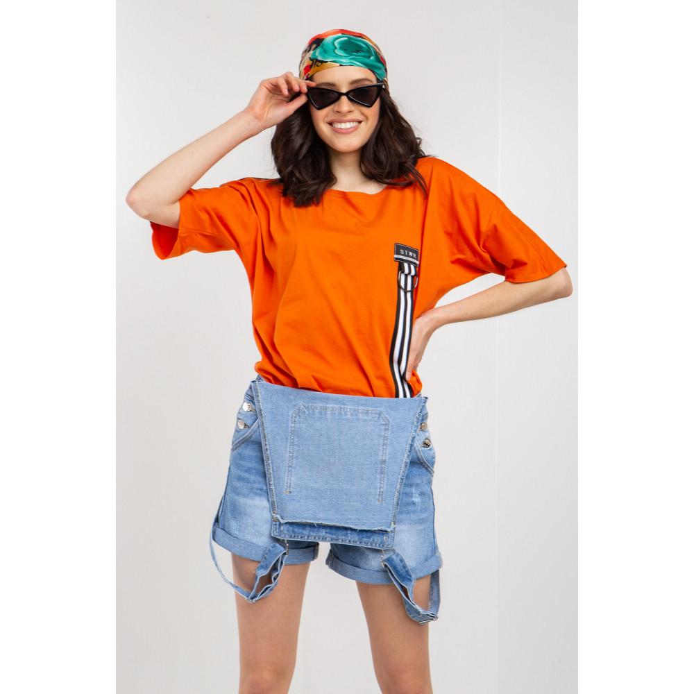 Апельсиновая футболка с тесьмой Анна фото 1