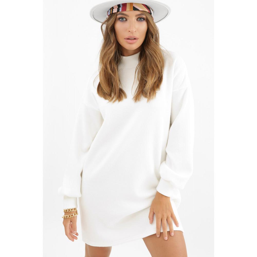 Белоснежное теплое платье Талита фото 1