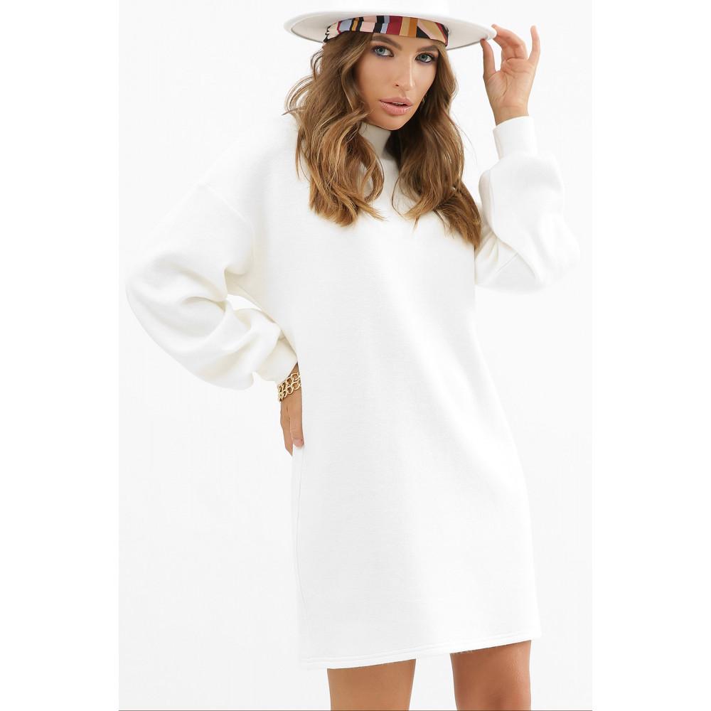 Белоснежное теплое платье Талита фото 3