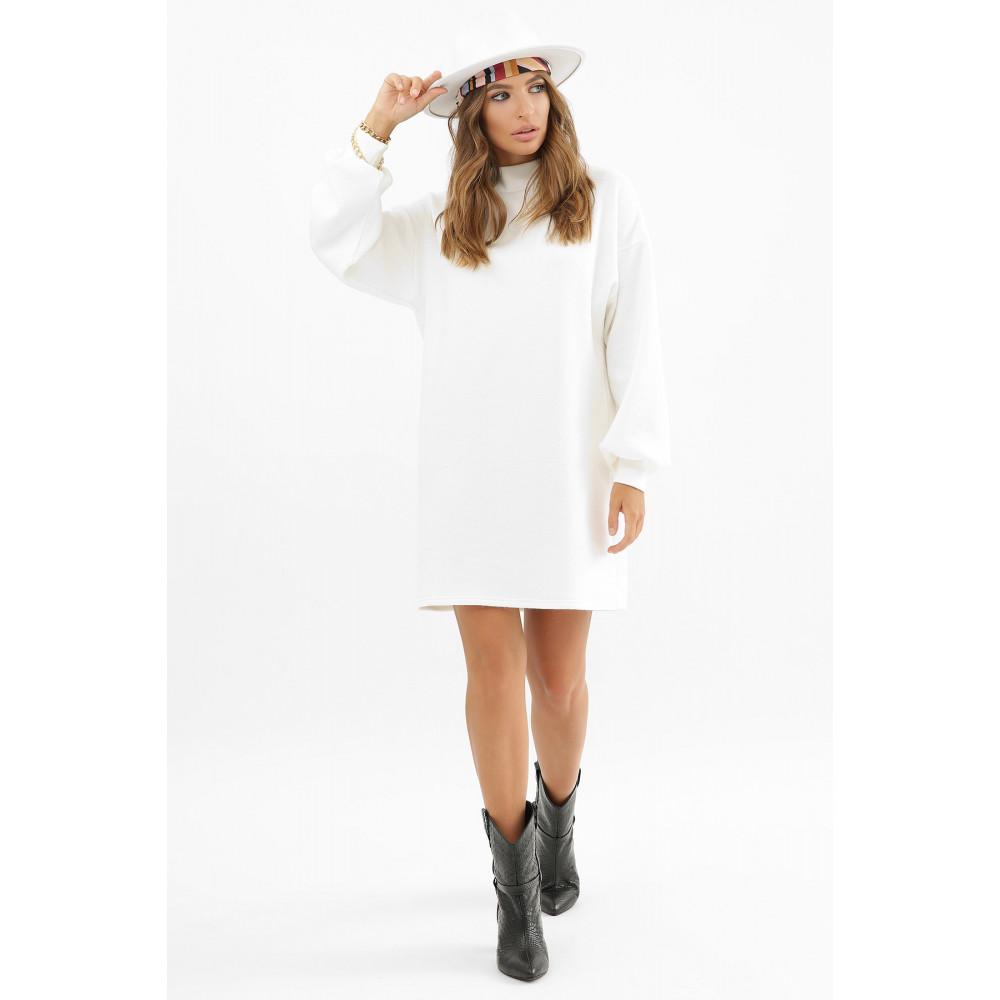Белоснежное теплое платье Талита фото 4