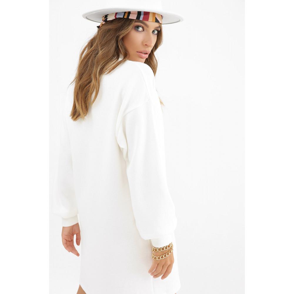 Белоснежное теплое платье Талита фото 5