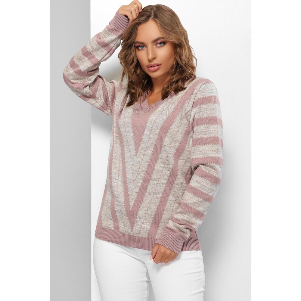 Двухцветный свитер с узором Джози фото 1