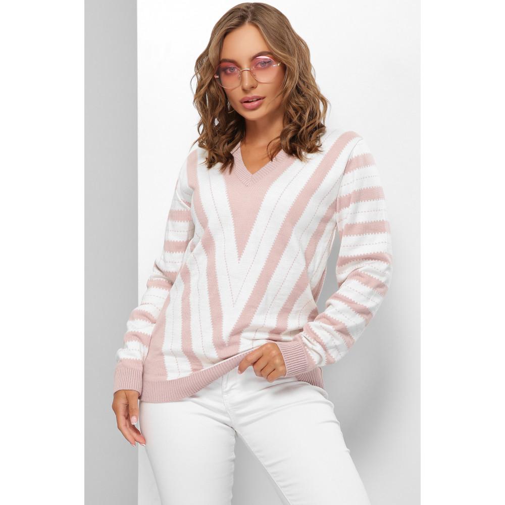 Комбинированный свитер с узором Джози фото 1