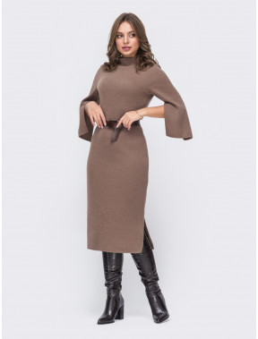 Шикарное повседневное платье-миди