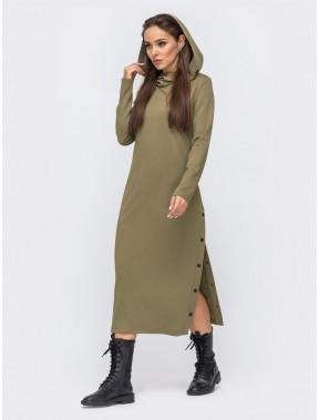 Оливковое спортивное платье Агата