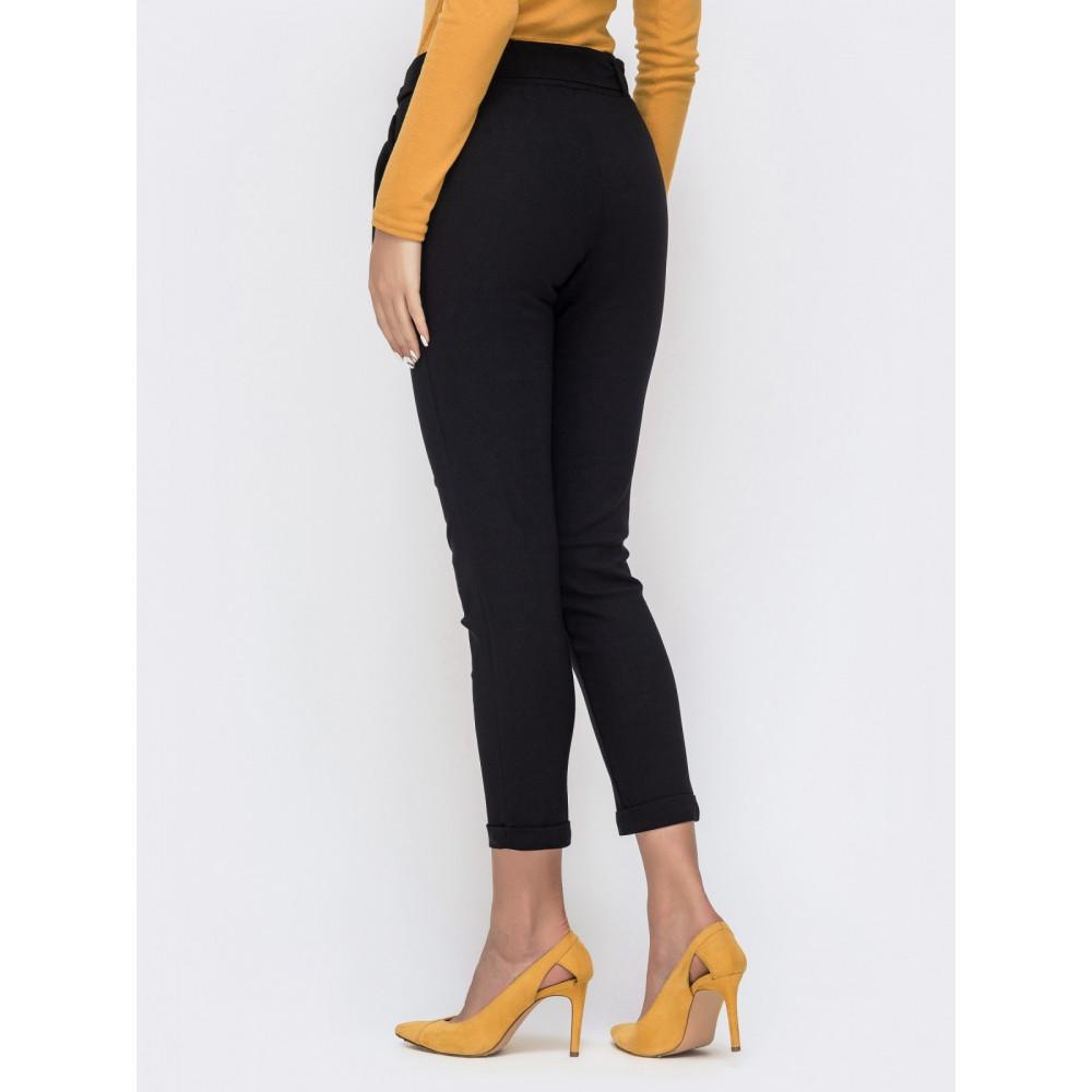 Красивые брюки-дудочки черного цвета фото 3