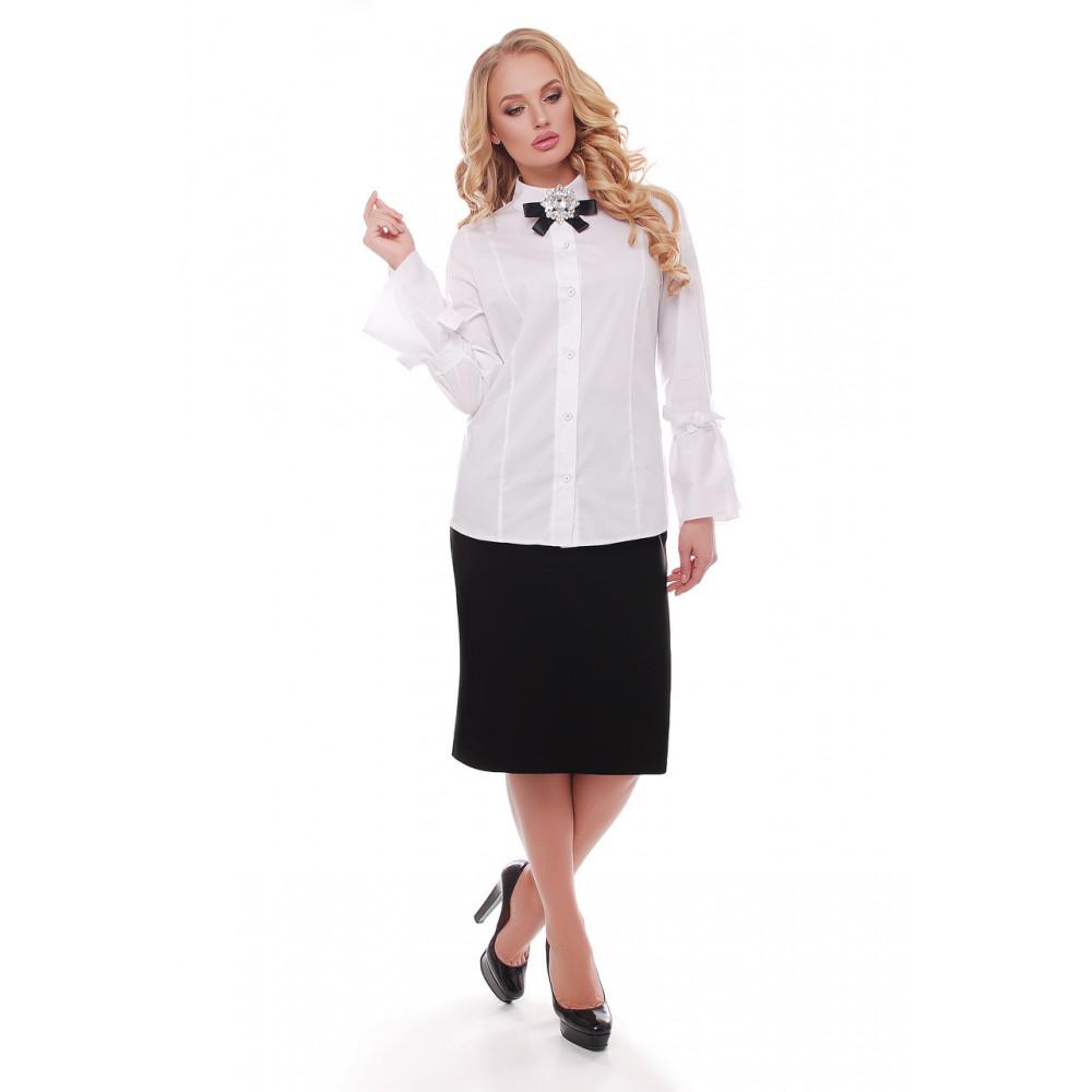 Женская классическая черная юбка фото 1
