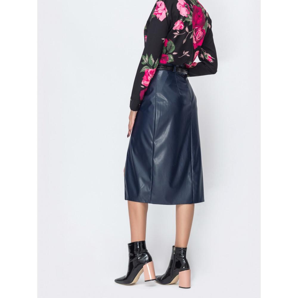 Женская юбка прямого кроя на запАх фото 2