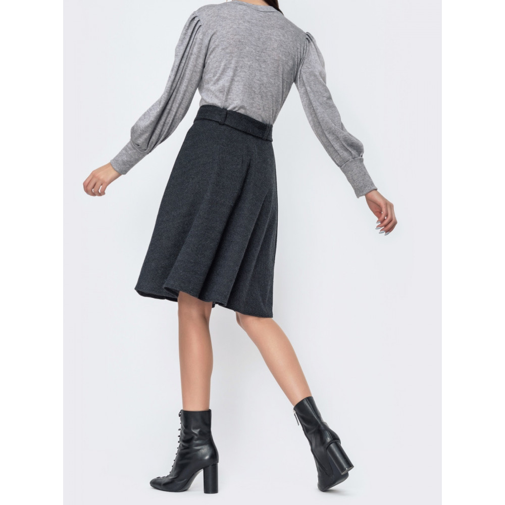 Милая расклешенная юбка с поясом фото 2