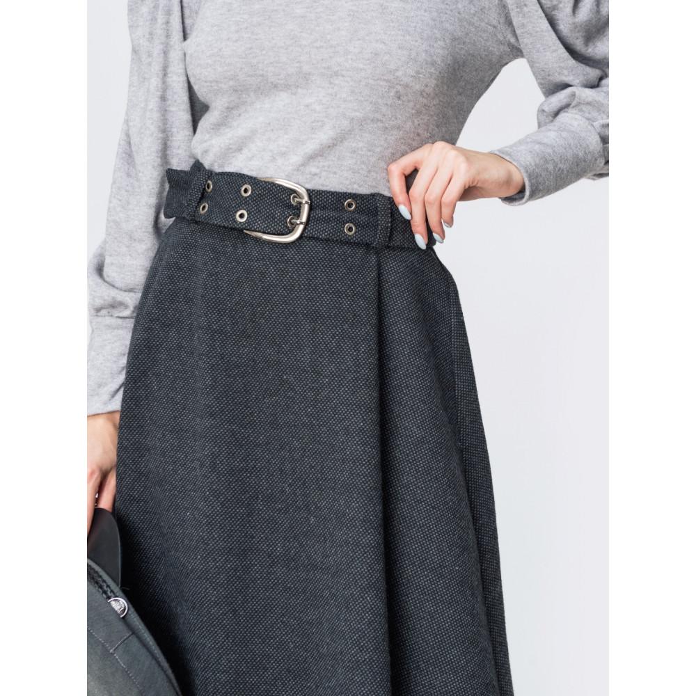 Милая расклешенная юбка с поясом фото 3