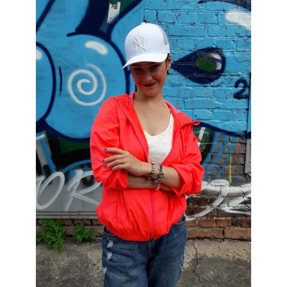 Белоснежная кепка с вышивкой NY фото 2