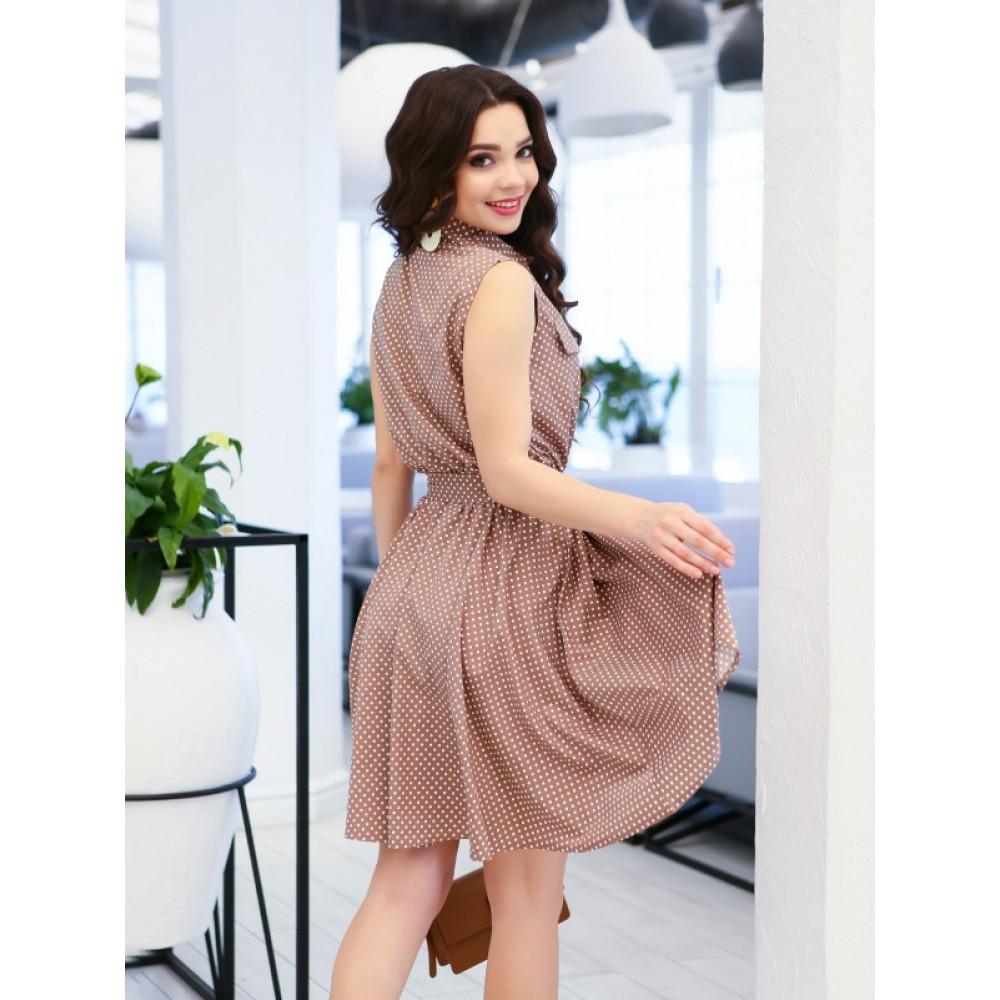Молодежное платье в горох Элла фото 3