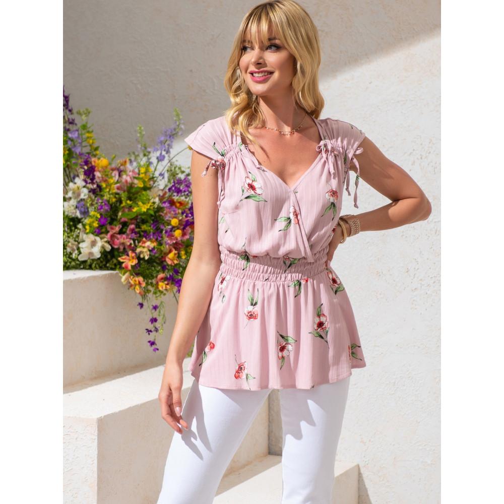 Женственная блузка из хлопковой ткани фото 1