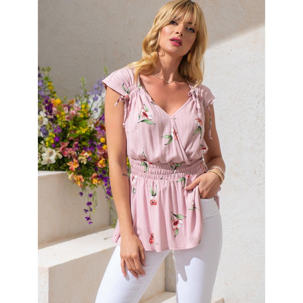 Женственная блузка из хлопковой ткани фото 2