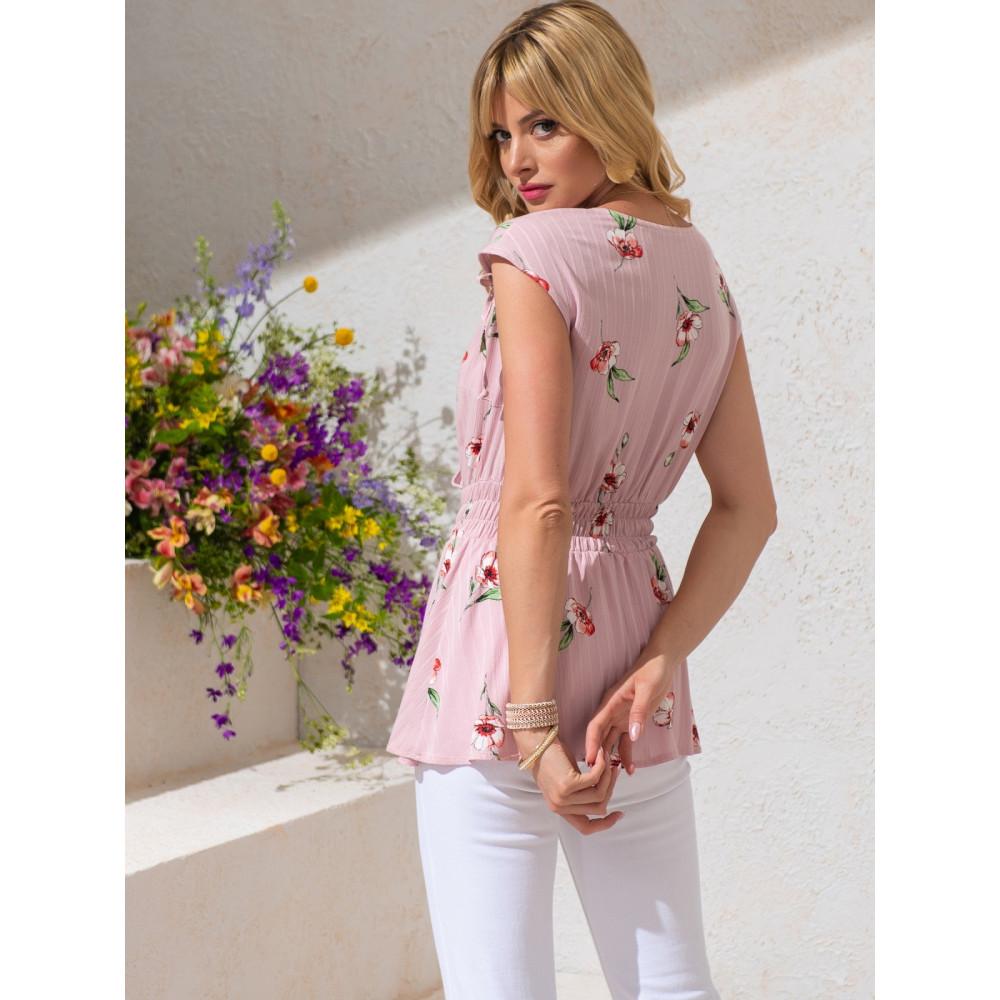 Женственная блузка из хлопковой ткани фото 3