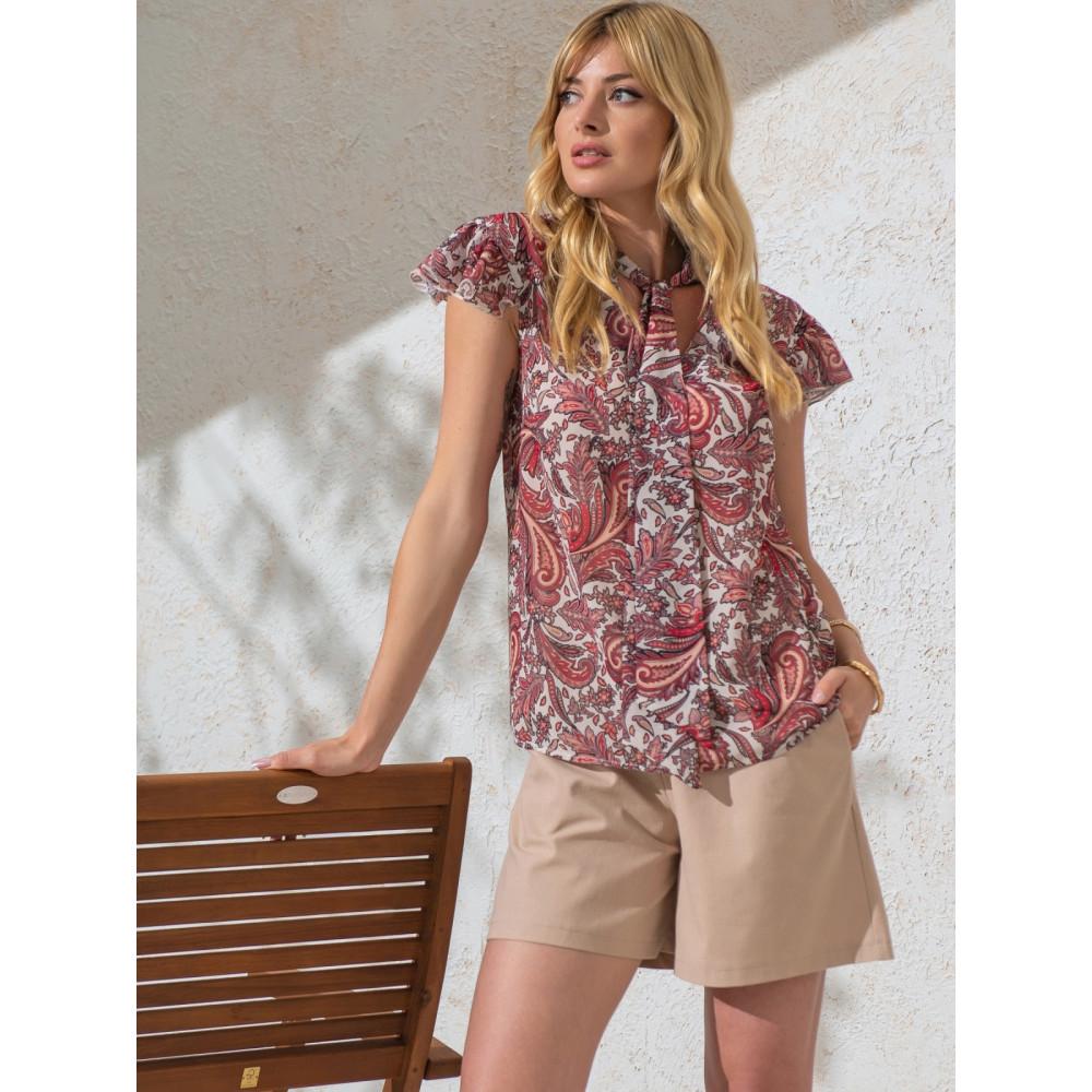 Изысканная блузка с бантом фото 2