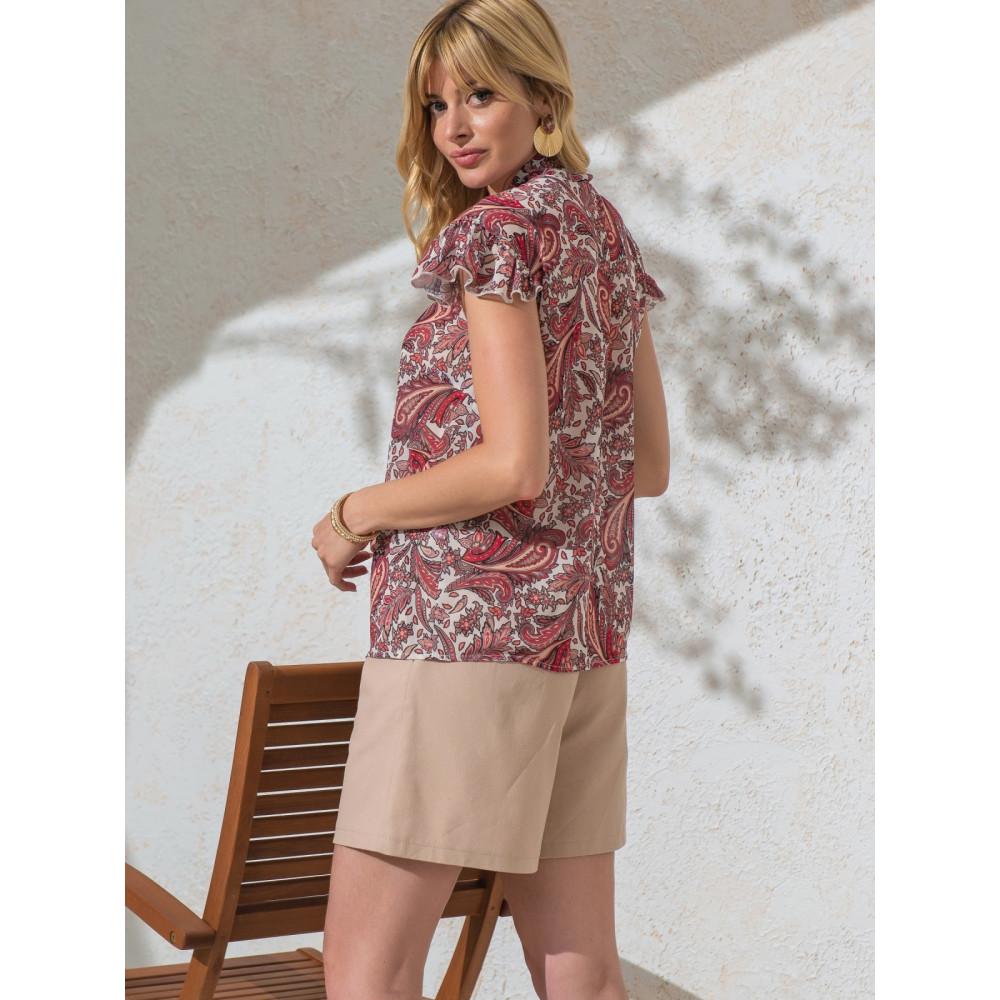 Изысканная блузка с бантом фото 3