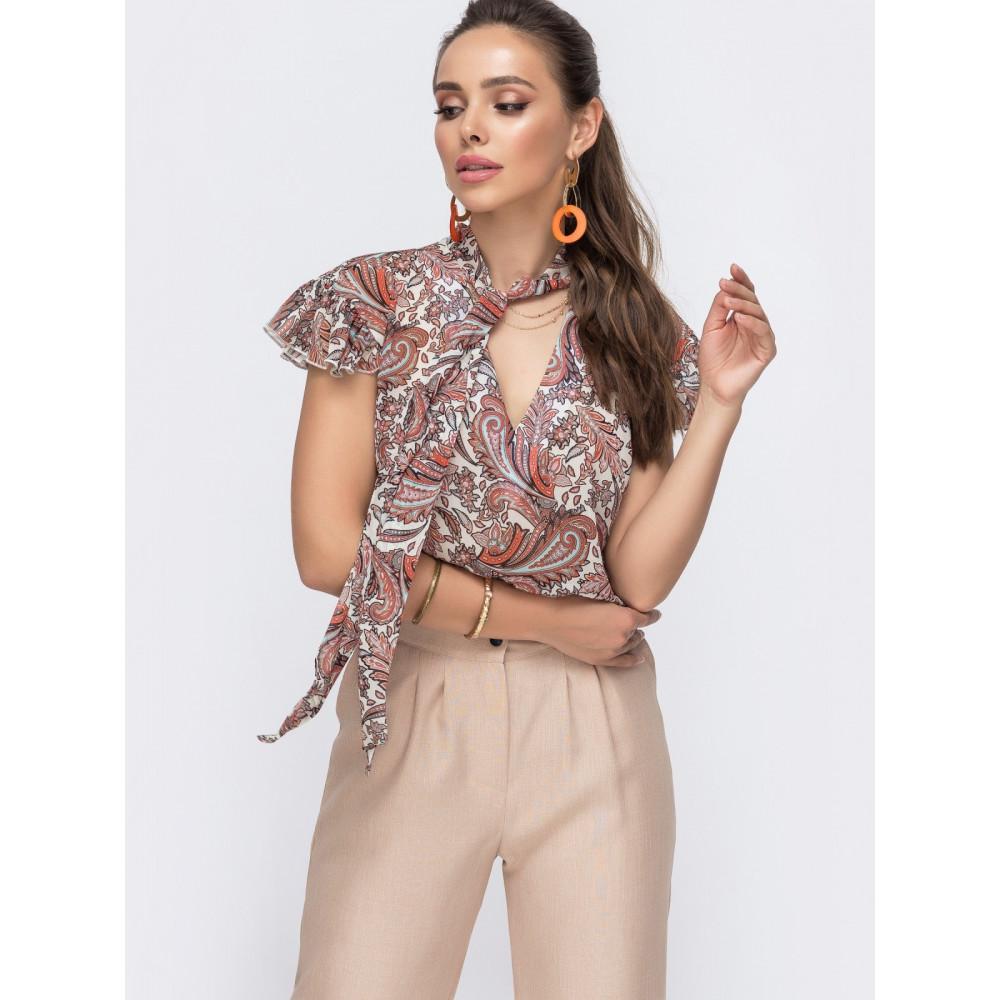 Изысканная блузка с рисунком фото 1