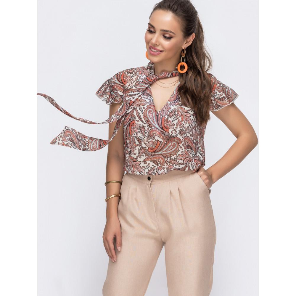 Изысканная блузка с рисунком фото 2