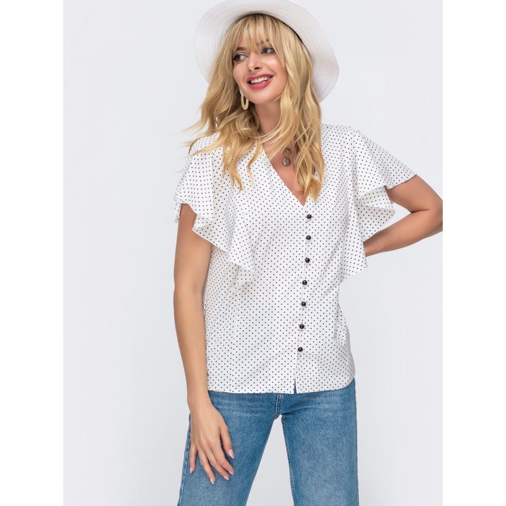 Женственная блузка в горошек фото 1