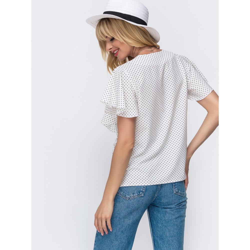 Женственная блузка в горошек фото 2