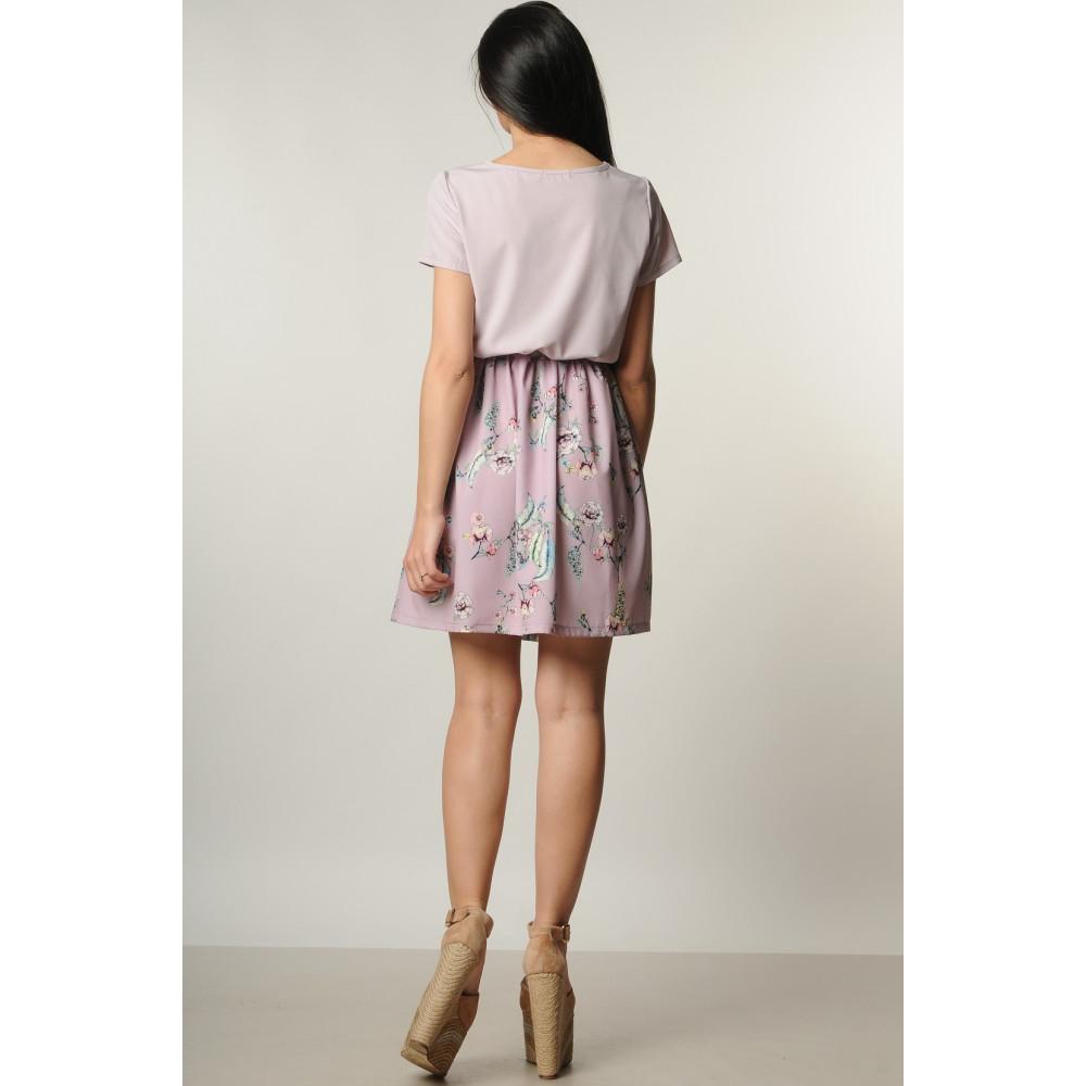 Лиловое платье с нежным рисунком Элли фото 3